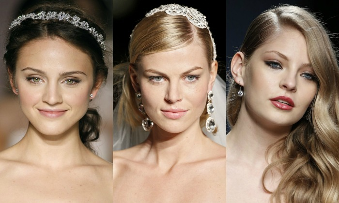 Bridal earrings and collected five looks to combine
