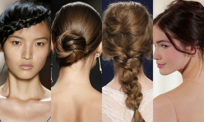How to wear jewelry in the hair with four different wedding hairstyles