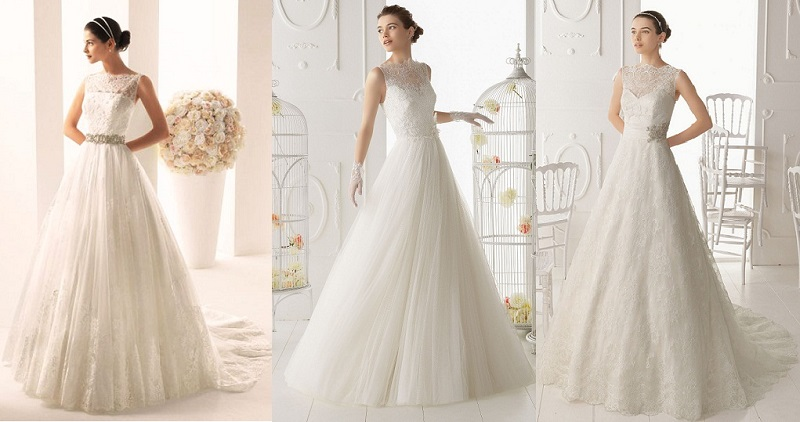 wedding dress according to the shape