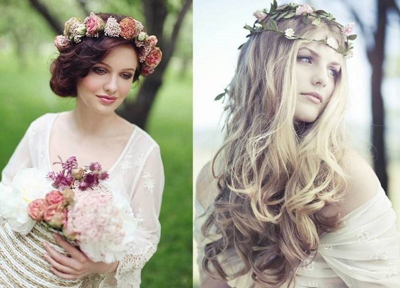 Hairstyles from boho-chic