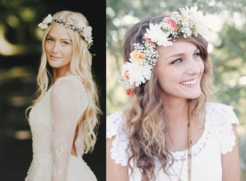Hairstyles from boho-chic, the most fashion proposals wedding