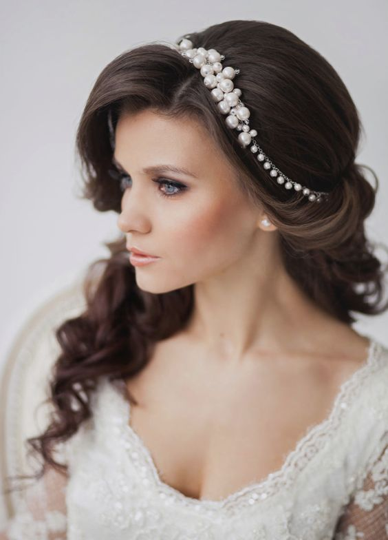 Hairstyle with tiaras