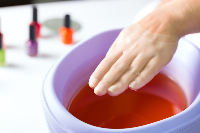 Go to an expert and immerse your hands in paraffin