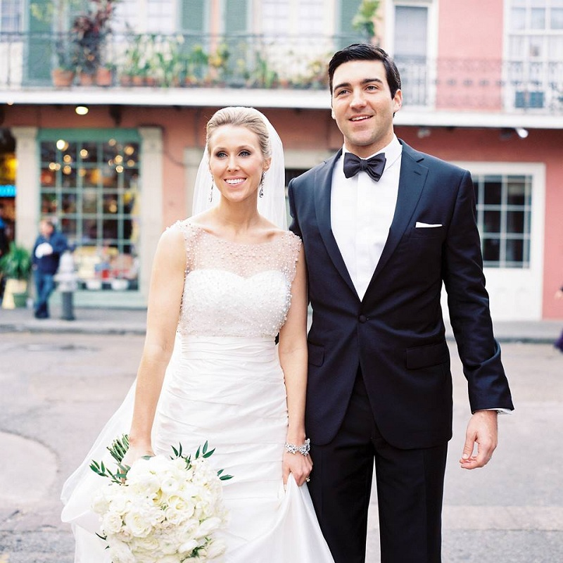Dress and grooms suit
