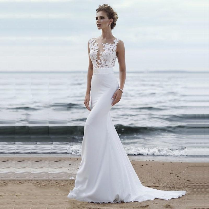 Beach wedding dress: Some wedding dresses to choose a dreamy marine look