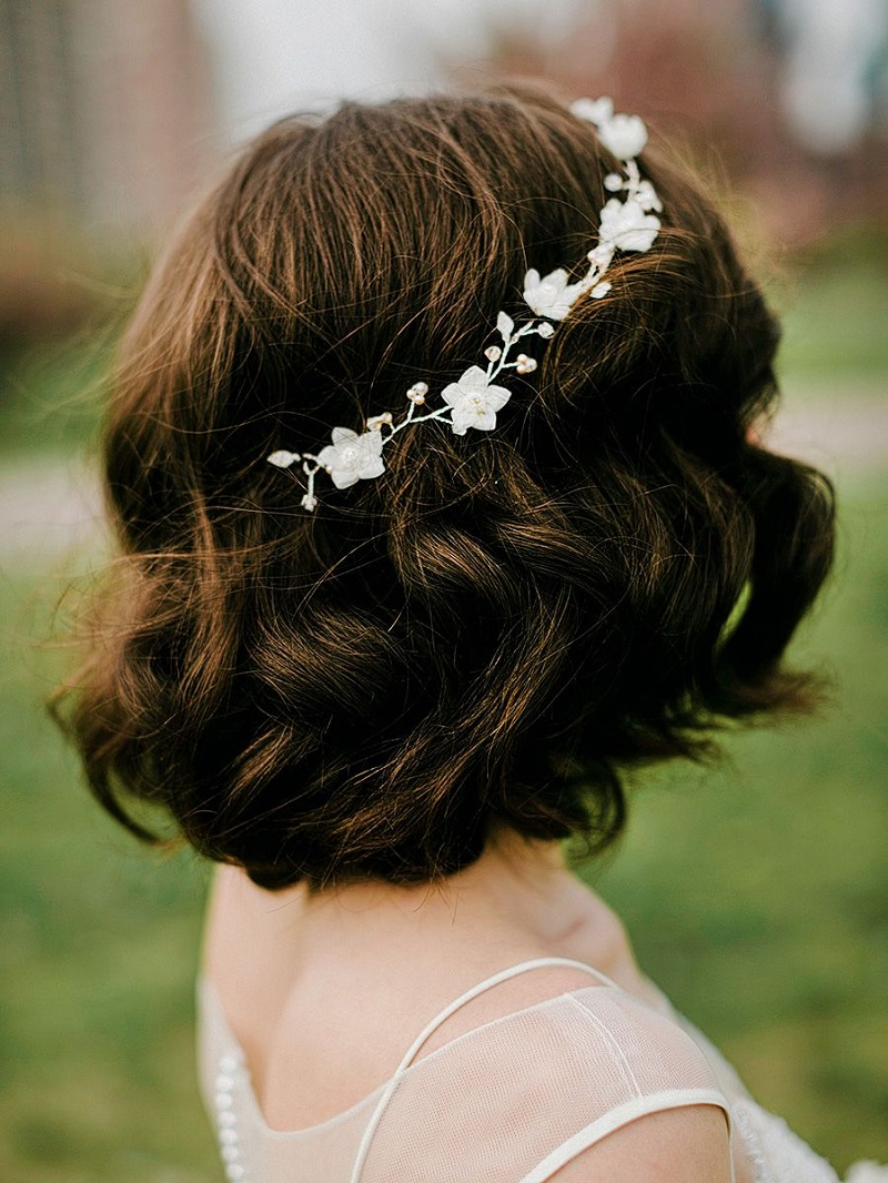 Bridal hairstyles for short hair: the trendiest hairstyle for the day of the yes!