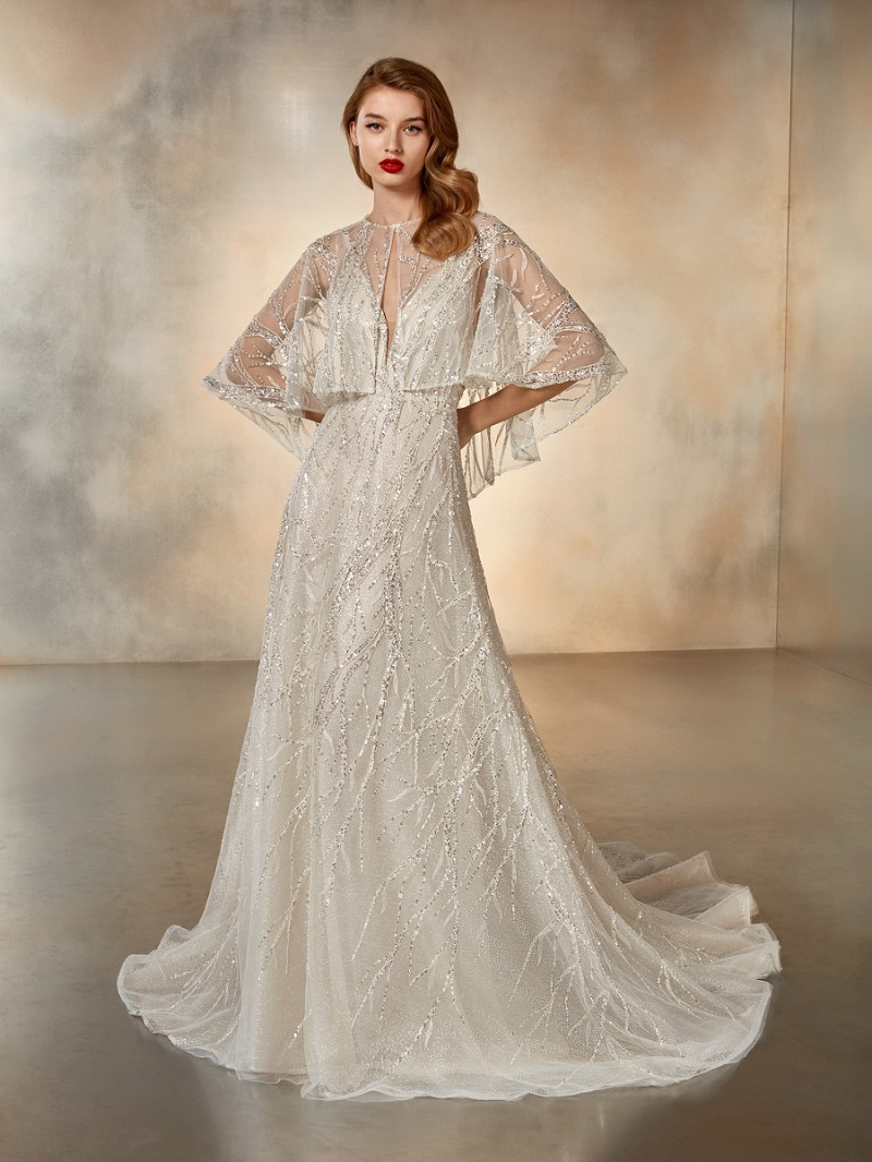 Bridal looks for a romantic wedding with a vintage taste